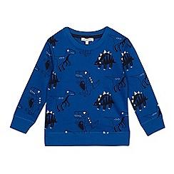 bluezoo - 'Boys' navy dinosaur print sweater
