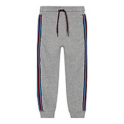 bluezoo - Boys' grey striped trim joggers