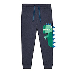 bluezoo - Boys' blue dinosaur applique jogging bottoms
