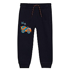 bluezoo - Boys' navy digger applique jogging bottoms