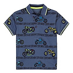 bluezoo - Boys' motorbike print polo shirt