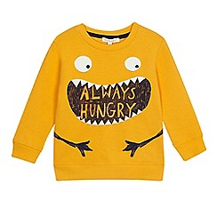 bluezoo - Boys' yellow 'Always hungry' slogan sweater