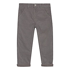 bluezoo - Boys' grey jersey lined cord trousers