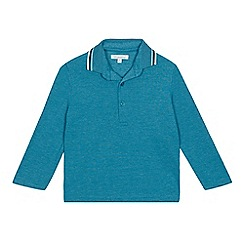 bluezoo - Bright turquoise embroidered polo shirt