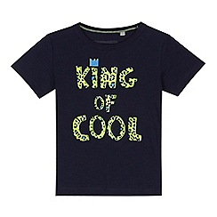 bluezoo - Boys' navy 'King of Cool' slogan print t-shirt