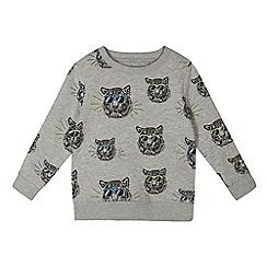 bluezoo - Boys' grey tiger print sweater