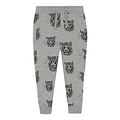 bluezoo - 'Boys' grey tiger print jogging bottoms