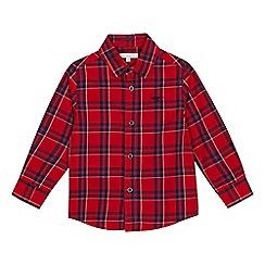 bluezoo - Boys' red tartan checked long sleeves shirt