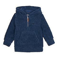 Mantaray - Boys' blue borg hoodie