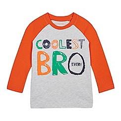 bluezoo - Boys' Grey 'Coolest Bro' Print Top