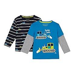 bluezoo - 2 Pack Boys' Blue Snow Plough T-shirts