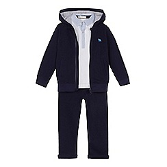 J by Jasper Conran - 'Boys' blue striped trim hoodie, polo shirt and bottoms set