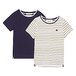 J by Jasper Conran - '2 pack boys' navy and multi-coloured striped t-shirts