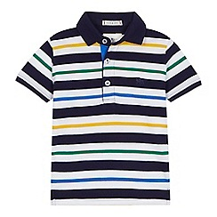 J by Jasper Conran - 'Boys' multi-coloured striped polo shirt
