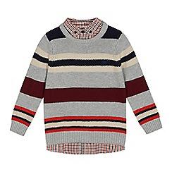 J by Jasper Conran - Boys' Multicoloured Mock Striped Knit Jumper