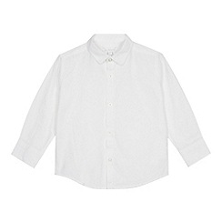bluezoo - Boys' white long sleeve Oxford shirt