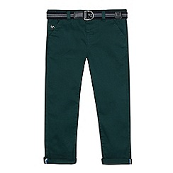 J by Jasper Conran - Boys' dark green slim fit chino trousers