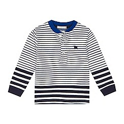 J by Jasper Conran - Boys' white stripe print grandad neck top
