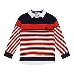 J by Jasper Conran - 'Boys' red striped mock shirt sweater