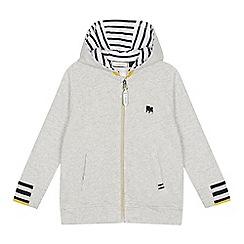 J by Jasper Conran - Boys' grey striped trim hoodie
