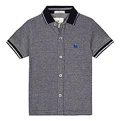 J by Jasper Conran - Boys' blue tipped short sleeve shirt