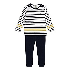 J by Jasper Conran - Boys' Navy Striped Top and Jogging Bottoms Set