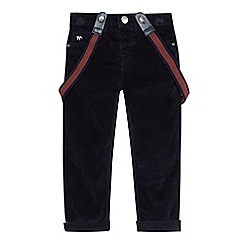 J by Jasper Conran - Boys' navy cord trousers with braces