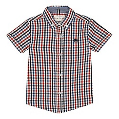 J by Jasper Conran - Boys' multicoloured gingham check short sleeve shirt