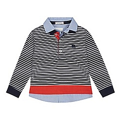 J by Jasper Conran - Boys' navy striped mock-shirt top