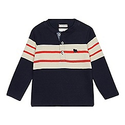 J by Jasper Conran - Boys' navy French rib henley top