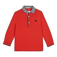 J by Jasper Conran - Boys' orange gingham collar polo top