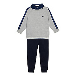 J by Jasper Conran - Boys' Grey Mock Jumper and Jogging Bottoms Set