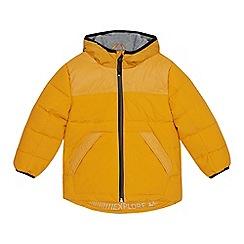 Mantaray - Boys' yellow padded shower resistant jacket