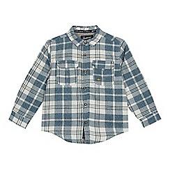 Mantaray - Boys' blue checked shirt