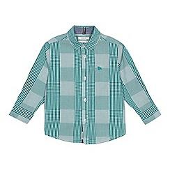 J by Jasper Conran - Boys' green checked regular fit shirt