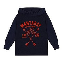 Mantaray - Boys' navy logo top
