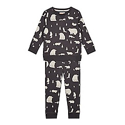 Mantaray - Boys' grey animal print sweatshirt and jogging bottoms set