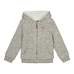 Mantaray - Boys' grey knitted hoodie