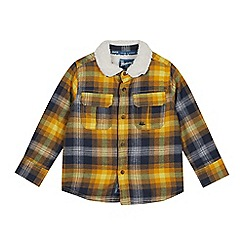 Mantaray - Yellow Borg Lined Checked Shirt