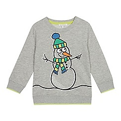 bluezoo - Boys' grey snowman print sweatshirt