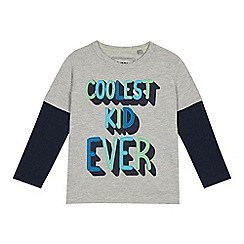 bluezoo - Boys' multicoloured slogan print t-shirt