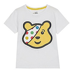 BBC Children In Need - Kids' white 'Pudsey' print T-shirt