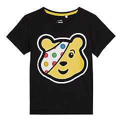 BBC Children In Need - Boys' black Pudsey print T-shirt