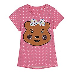 BBC Children In Need - Kids' pink Pudsey print T-shirt