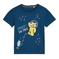BBC Children In Need - Boys' blue cotton 'Pudsey' in space print t-shirt