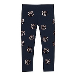 BBC Children In Need - Girls' navy diamante embellished 'Pudsey' leggings