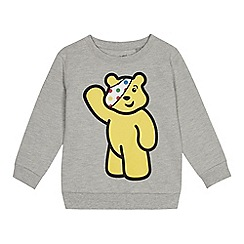 BBC Children In Need - Kids' grey 'Pudsey' character print sweater