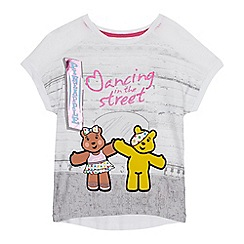 BBC Children In Need - Girls' white 'Dancing in the Street' print t-shirt
