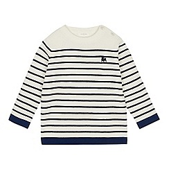 J by Jasper Conran - Kids' Off White Breton Striped Jumper