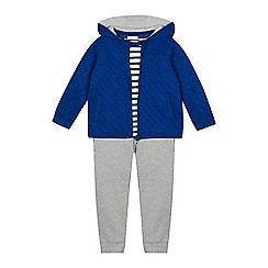 J by Jasper Conran - Boys' Bright Blue Hoodie, Stripe T-Shirt and Trousers Set